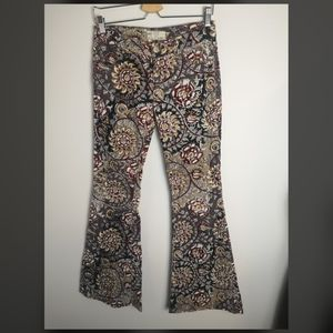 Free people corduroy floral flare pant